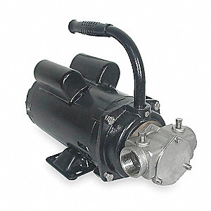 14.4/7.2 Amps 1 HP Flexible Impeller Pump, 36.7 psi, 1-1/4 NPT