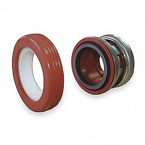 Shaft Seal,7/8 In,Viton, Carbon, Ceramic