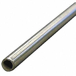 "3 ft. Aluminum Tubing, 5/8"" Outside Dia., 0.495"" Inside Dia., Seamless"