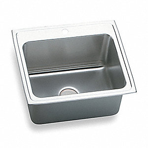 DROP-IN SINK,SS,18 GAUGE,25 IN L