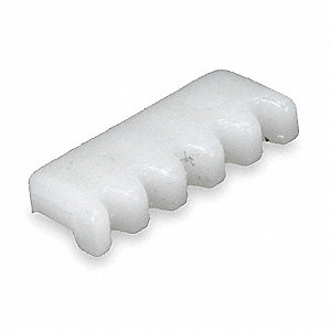 "1/2"" x 3/16"" Gear Clip, White; For Use With Vertical Blinds"