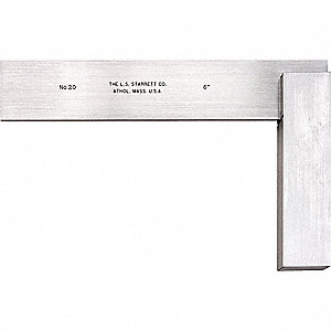Precision Square,  Stainless Steel,  Number of Pieces —,  7 x 4 Outside Dimensions (In.)