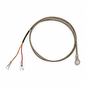 Ring Thermocouple, Thermocouple Type:  K, Temp. Limit (Deg. F): 900