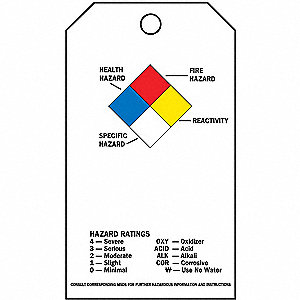 NFPA Diamond Accident Prevention Tag, 25 PK