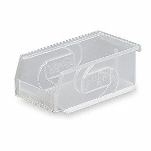 Hang and Stack Bin,7-3/8 In L,Clear