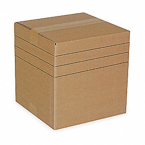 "Multidepth Shipping Carton, Brown, Inside Width 8"", Inside Length 16"", 65 lb., 1 EA"
