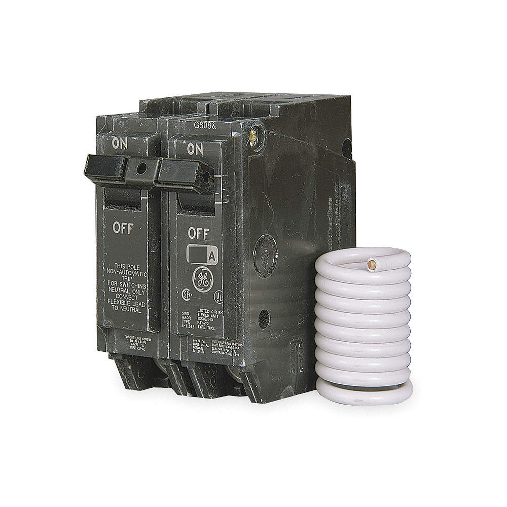 GENERAL ELECTRIC Plug In Circuit Breaker, THQL, Number of Poles 2 ...