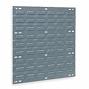 "18"" x 5/16"" x 19"" Louvered Panel with 160 lb. Load Capacity, Gray"
