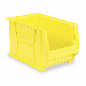 "Hopper Bin, Yellow, 12""H x 20""L x 18-3/8""W, 1EA"