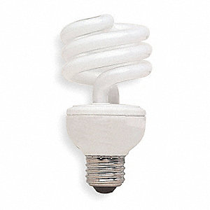 20 Watts  Screw-In CFL, T3, Medium Screw (E26), 1300 Lumens 2700K Bulb Color Temp.