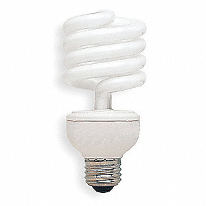 23  Watts Screw-In CFL, T3, Medium Screw (E26), 1660 Lumens, 5000K Bulb Color Temp.