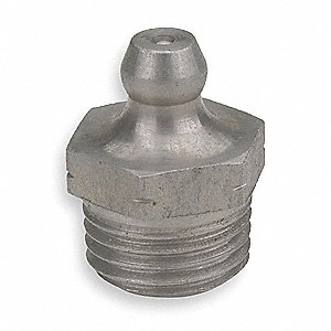Grease Fitting,Str,1/4-19,PK5