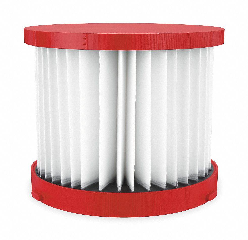 Cartridge Filter,  Paper,  HEPA Filtration Type,  For Vacuum Type Shop Vacuum