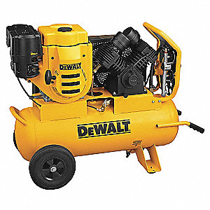 Dewalt 9 hp portable gas air compressor 3ard5 d55695 for Air compressor gas motor