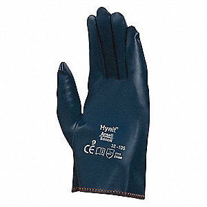 Smooth Nitrile Coated Gloves, Glove Size: 7, Blue