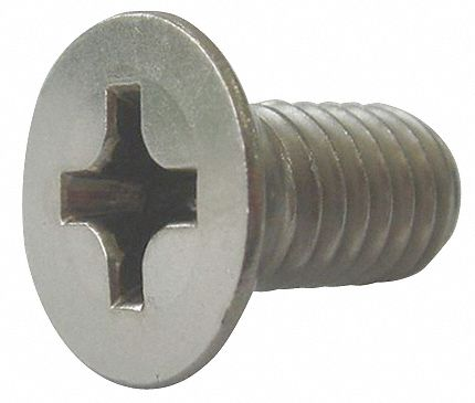 """Select Length 3//8/""""-16316 Stainless Steel Phillips Flat Head Machine Screws"""