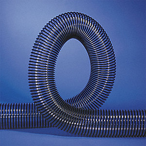 "25 ft. Reinforced PVC Industrial Ducting Hose with 4"" Bend Radius, Clear/Black"