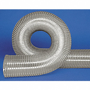 "25 ft. Urethane Industrial Ducting Hose with 5"" Bend Radius, Clear"