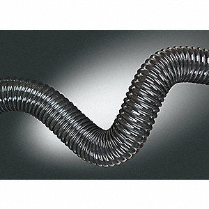 "50 ft. Urethane Industrial Ducting Hose with 4.5"" Bend Radius, Clear"