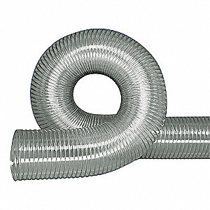 "50 ft. Urethane Industrial Ducting Hose with 3.5"" Bend Radius, Clear"