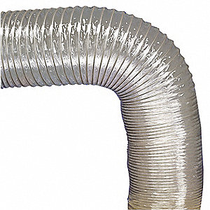 "25 ft. Reinforced PVC Industrial Ducting Hose with 6"" Bend Radius, Clear"