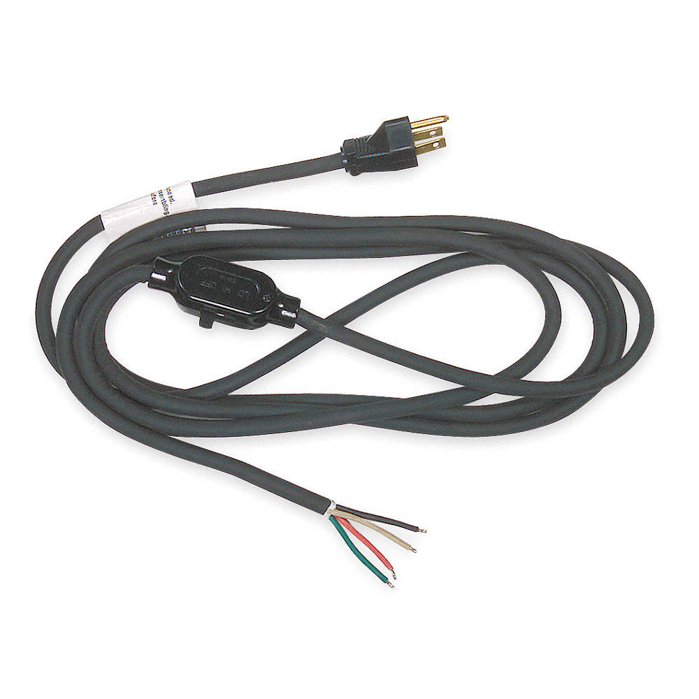 POWER FIRST 10 ft. Power Cord with SJ NEC Cord Designation, 16/4 ...