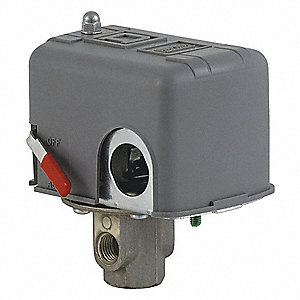 Air Compressor Pressure Switch, Differential: 30 psi, Range: 40 to 150 psi