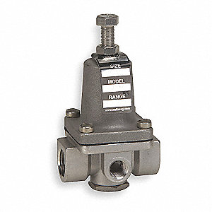 Pressure Regulator,1/2 In,100 to 300 psi