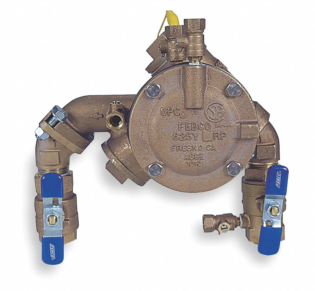 Reduced Pressure Zone Backflow Preventer, Bronze, Watts 825 Series, FNPT Connection