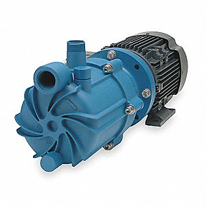 1 HP Polypropylene 115/208-230V Magnetic Drive Pump, 50 ft. Max. Head