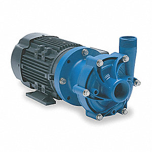 1 HP Polypropylene 208-230/460V Magnetic Drive Pump, 52 ft. Max. Head