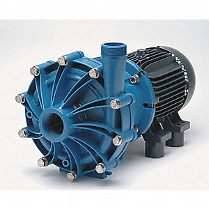 10 HP Polypropylene 208-230/460V Magnetic Drive Pump, 158 ft. Max. Head