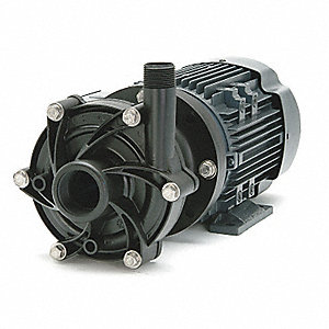 3/4 HP PVDF 115/208-230V Magnetic Drive Pump, 45 ft. Max. Head