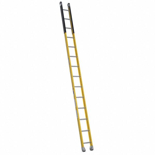 Werner Fiberglass Manhole Ladder 14 Ft Ladder Height 12