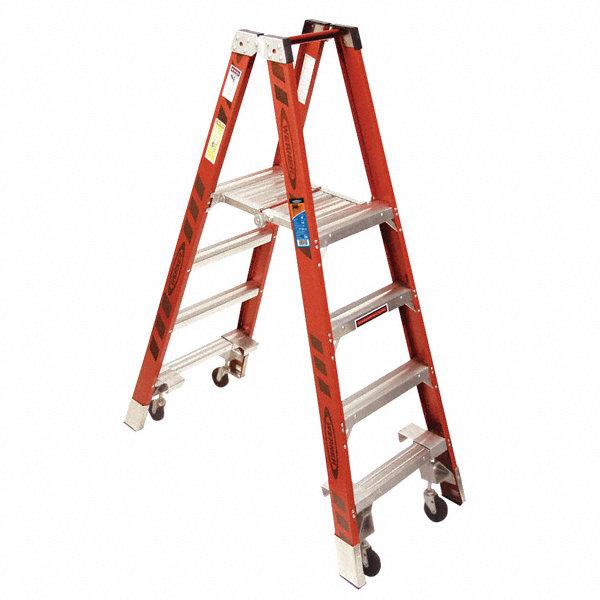 Werner Fiberglass Twin Platform Stepladder 6 Ft Ladder
