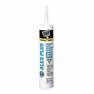 Caulk Crystal Clear, Sealant Application: Window and Door, 10.1 oz. Size, Tube