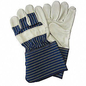 Leather Gloves,Striped Cotton,L,PR