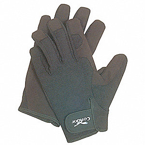 Box Handling Mechanics Gloves, Synthetic Leather Palm Material, Black, M, PR 1