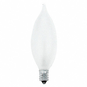 Incandescent Light Bulb,CA10,25W,PK4