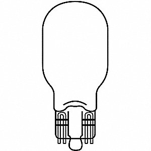 Trade Number 923, 12.0 Watts Miniature Incandescent Bulb, T5, Glass Wedge (W2.1x9.5d)