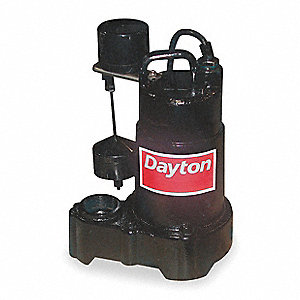 1/3 HP Submersible Sump Pump, Vertical Switch Type, Cast Iron Base Material