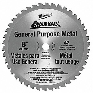 Milwaukee 8 cermet metal cutting circular saw blade number of 8 cermet metal cutting circular saw blade number of teeth 42 greentooth Images