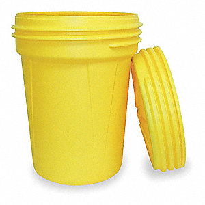 Salvage Drum,Open Head,30 gal.,Yellow