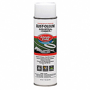 White Athletic Field Striping Paint, Water Base Type, 17 oz.