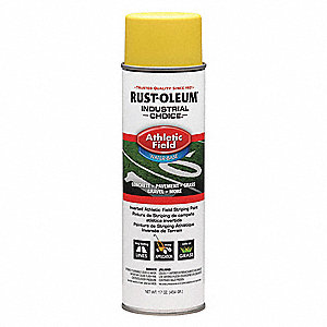 Water-Base Athletic Field Striping Paint, Yellow, 17 oz.