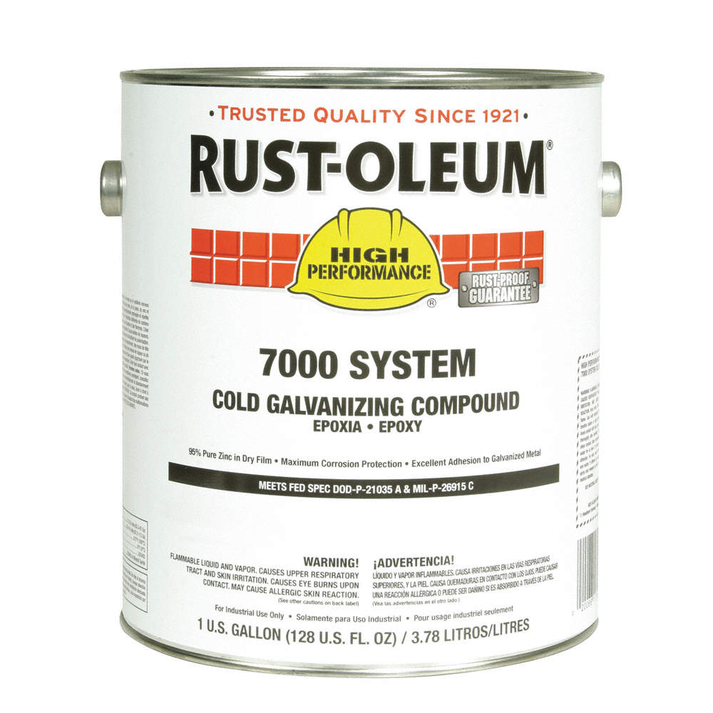 Interior/Exterior Cold Galvanizing Compound with 310 to 440 sq  ft /gal   Coverage, Metallic Gray, 1