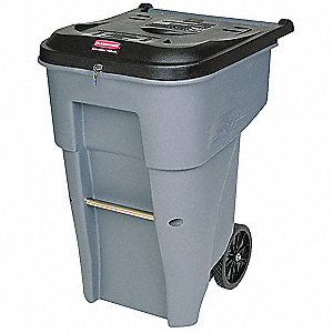 95 gal. Rectangular Gray Confidential Waste Container