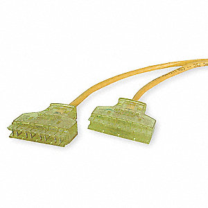 Patch Cord,Cat 6,Yellow,7 ft.