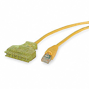 7 ft. Booted 6 Voice and Data Patch Cord, Yellow