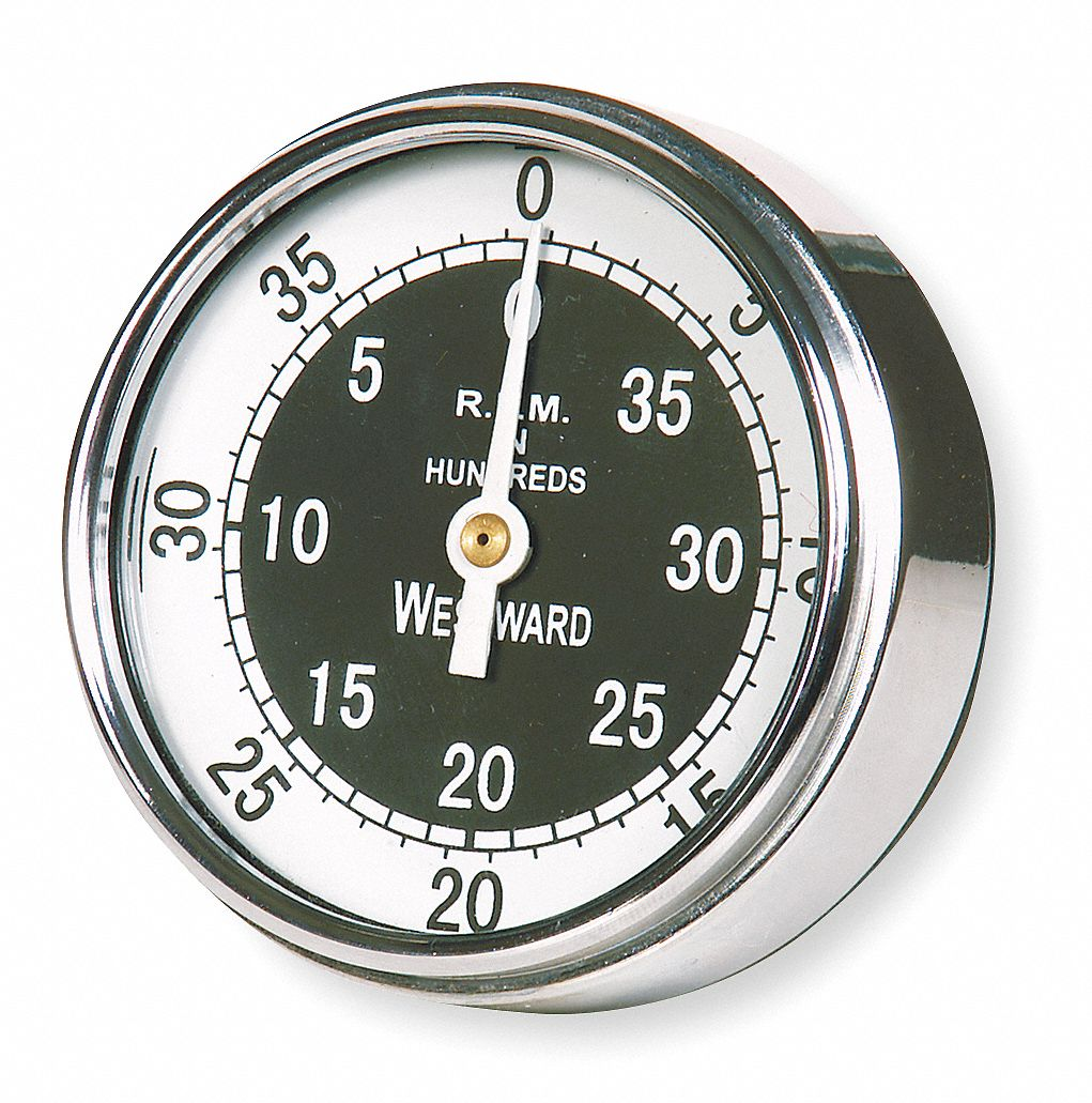 Analog Dial Tachometer, 50 to 4000 rpm